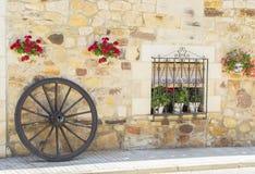 Деревенское окно крестьянского дома Стоковое Фото
