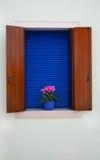 Деревенское окно, остров Burano, Венеция Стоковое Изображение RF