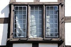 Деревенское окно, Tewkesbury Стоковые Изображения