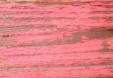 Деревенское постаретое деревянное grungy грубых деревянных доск старое с красной краской Стоковые Изображения RF