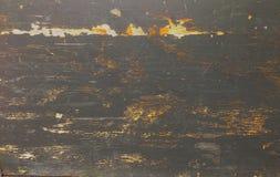 Деревенское постаретое деревянное grungy грубых деревянных доск старое с черной краской Стоковая Фотография RF