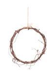 Деревенское украшение кольца изолированное на белизне Стоковое Фото