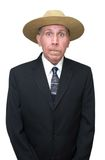 деревенщина бизнесмена юмористическая Стоковая Фотография RF
