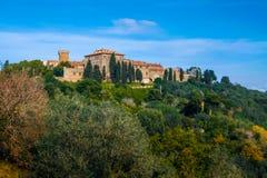 Деревни Baratti и Populonia исторические в Италии Стоковое Изображение RF