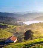 Деревни Gorliz и Plentzia стоковая фотография