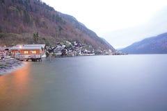 Деревня Австрия Hallstatt стоковые фотографии rf