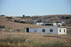 Деревня бедуина в израильской пустыне Negev стоковые изображения rf