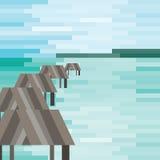 Деревня бунгал деревянная Стоковая Фотография RF