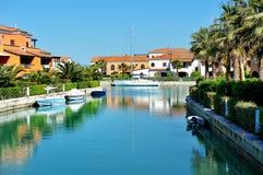Деревня взгляда Policoro сценарного, Италия Марины Стоковое Фото