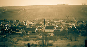 Деревня виноградника стоковые изображения rf