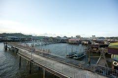 Деревня воды в Брунее Darussalam Стоковые Фотографии RF