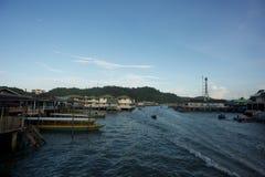 Деревня воды в Брунее Darussalam Стоковая Фотография RF