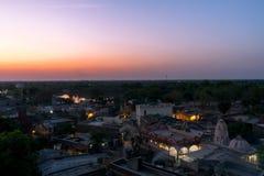 Деревня времени вечера - Индия Стоковые Изображения RF