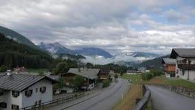 Деревня в Альпах сток-видео