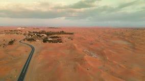 Деревня в ближневосточной пустыне видеоматериал