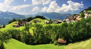 Деревня в горах - Вадуц Стоковое Изображение RF