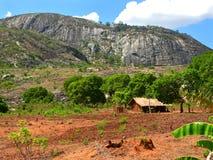 Деревня в горах. Фантастично красивый ландшафт. стоковая фотография
