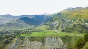 Деревня в зеленом цвете Стоковые Изображения