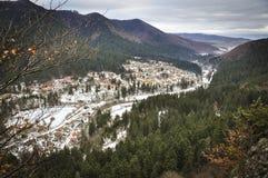 Деревня в зиме Стоковое Фото