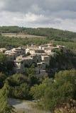 Деревня в Любероне, Франция Стоковое Изображение RF
