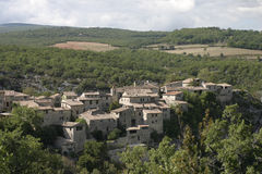 Деревня в Любероне, юговосточная Франция стоковая фотография rf