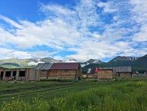 Деревня в Синьцзян, Китай Hemu Стоковые Изображения