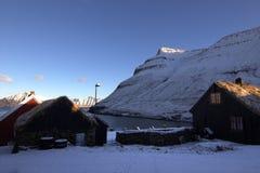 Деревня в Фарерских островах Стоковые Изображения