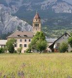 Деревня в французских Альпах стоковые фото