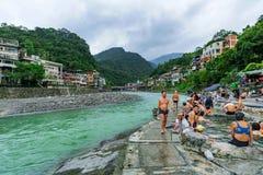 Деревня горячего источника Wulai Стоковая Фотография RF