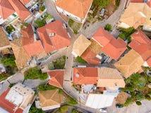 Деревня Греция Meganisi Spartochori стоковые фотографии rf