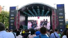 Деревня Евровидения в Kyiv в Украине 07 05 2017 редакционо Отверстие Евровидения сток-видео