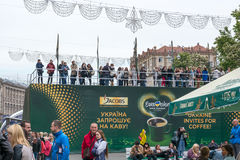 Деревня Евровидения в Kyiv в Украине 05 12 2017 Editoria Стоковые Изображения RF