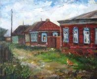 Деревня лета в России Стоковое фото RF