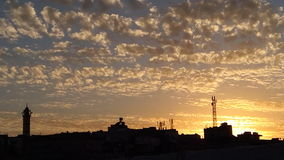 Деревня захода солнца Джордана ajloun Hashmiyyah Стоковая Фотография