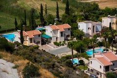 Деревня залива Pissouri Кипр стоковая фотография