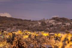 Деревня зимы в Братиславе Стоковое Фото