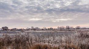 Деревня зимы в России Стоковое Фото
