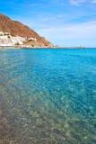 Деревня Испания пляжа Альмерии Cabo Gata Сан-Хосе Стоковые Фотографии RF