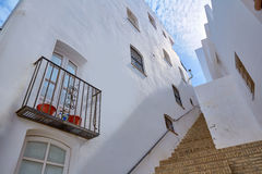 Деревня Испания Mojacar Альмерии белая среднеземноморская Стоковые Фотографии RF