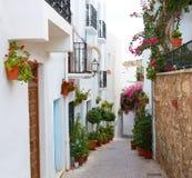 Деревня Испания Mojacar Альмерии белая среднеземноморская Стоковое фото RF