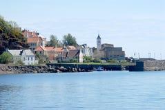 Деревня и гавань файфа Стоковое Изображение