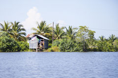 Деревня Камбоджи Стоковая Фотография