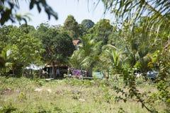 Деревня Камбоджи Стоковое Изображение