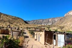 Деревня каньона Colca малая стоковые изображения rf