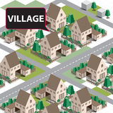 Деревня карты равновеликая Стоковые Фотографии RF