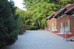 Деревня китайца ландшафта горы Стоковые Фотографии RF