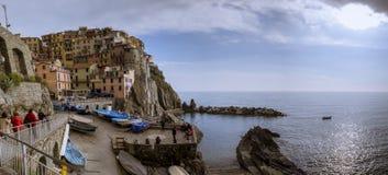 Деревня конематки al Monterosso, Cinque Terre, Италии Стоковая Фотография