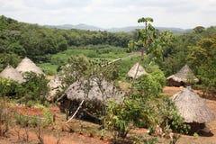 Деревня коренного народа, Центральная Америка Стоковые Изображения RF