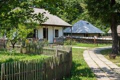 Деревня коттеджей на открытом воздухе Стоковое Изображение