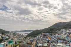 Деревня культуры Gamcheon в Пусане, Южной Корее Стоковые Изображения RF